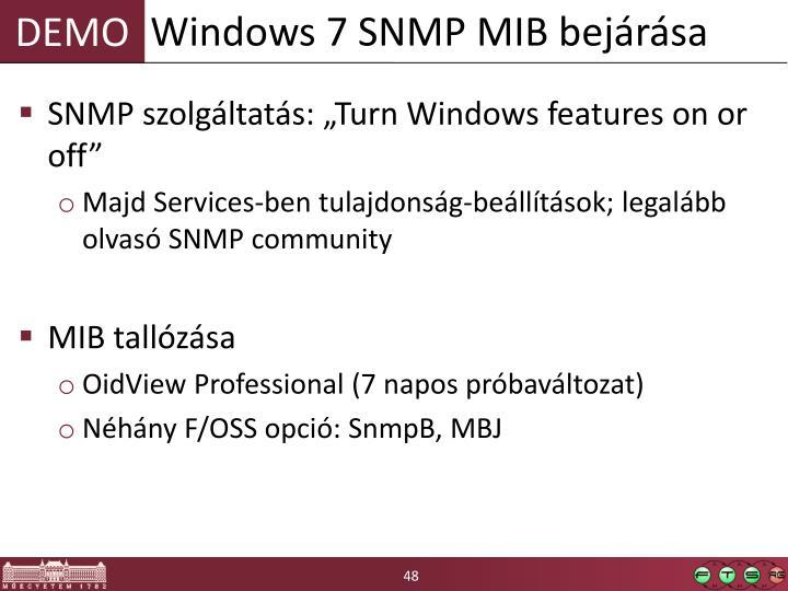 Windows 7 SNMP MIB bejárása