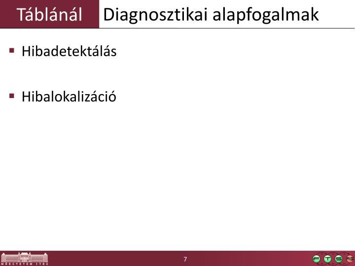 Diagnosztikai alapfogalmak