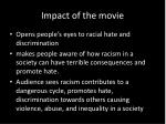 impact of the movie