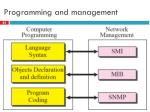 programming and management