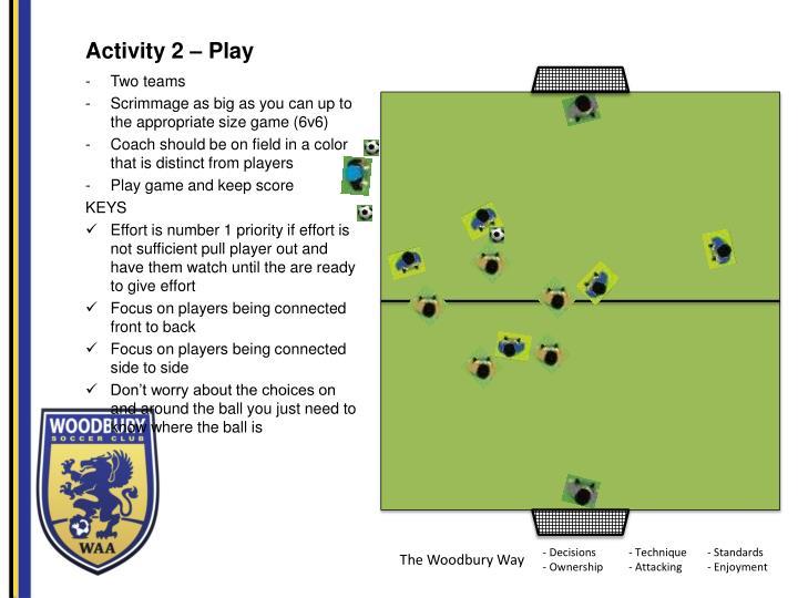 Activity 2 – Play