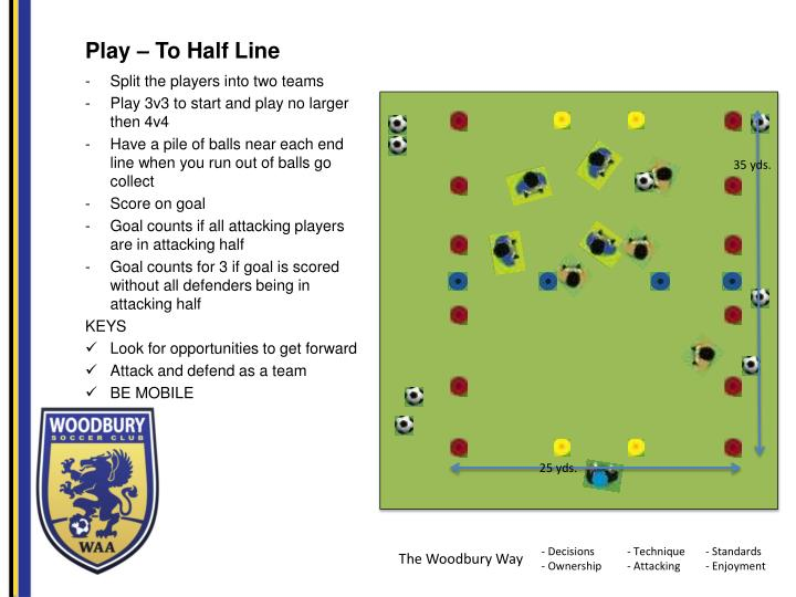 Play – To Half Line