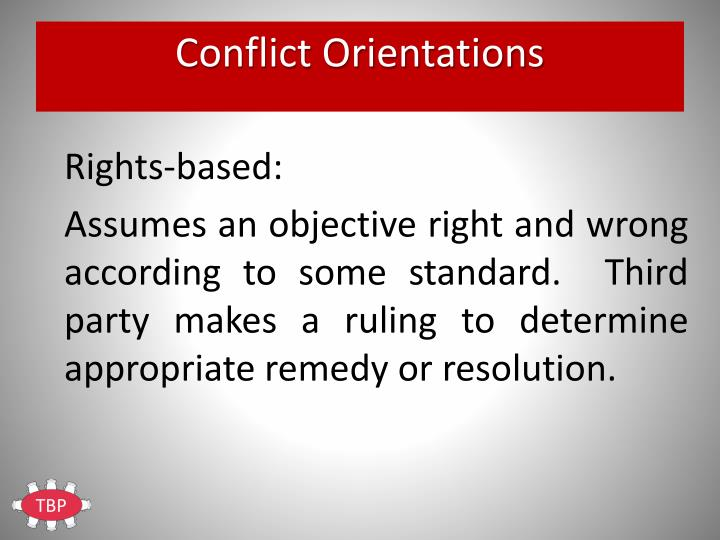 Conflict Orientations