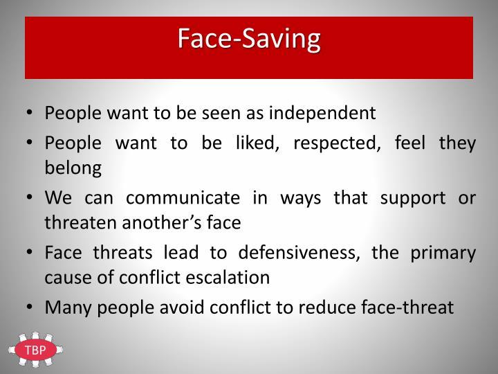 Face-Saving