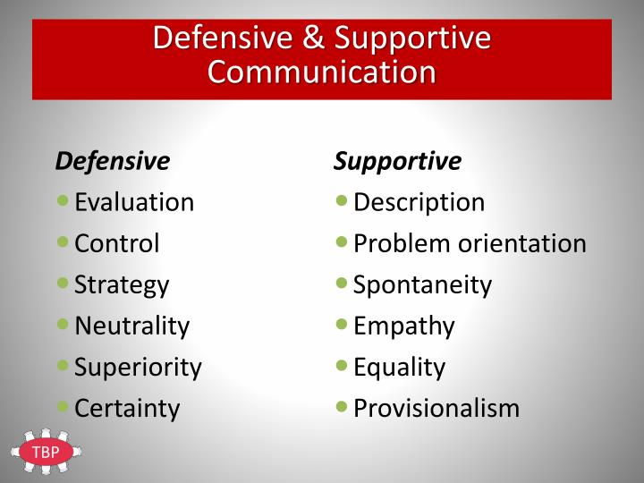 Defensive & Supportive