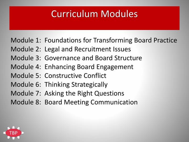Curriculum Modules
