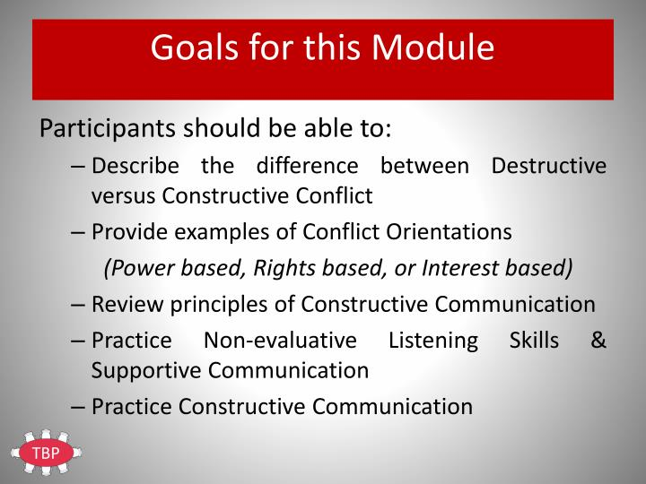 Goals for this Module