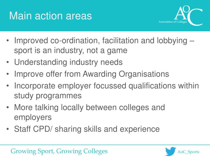 Main action areas
