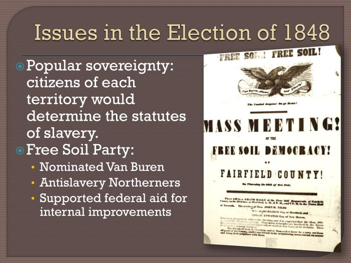 Issues in the Election of 1848