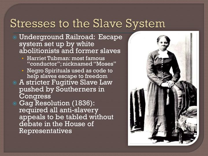Stresses to the Slave System