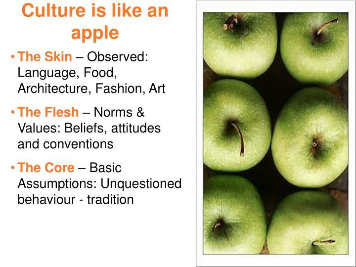 Culture is like an apple