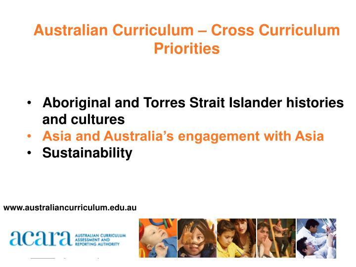 Australian Curriculum – Cross Curriculum Priorities