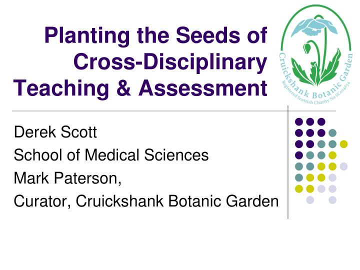planting the seeds of cross disciplinary teaching assessment n.