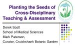 planting the seeds of cross disciplinary teaching assessment