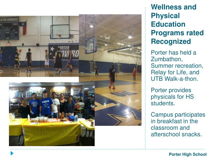 Wellness and physical education programs rated recognized