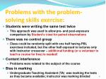problems with the problem solving skills exercise