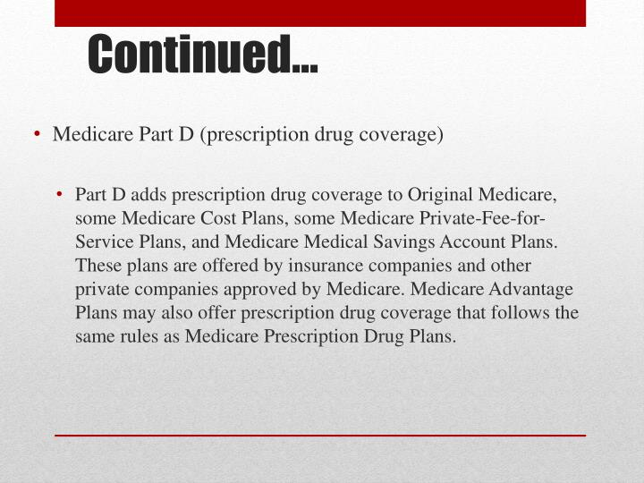 Medicare Part D (prescription drug coverage)