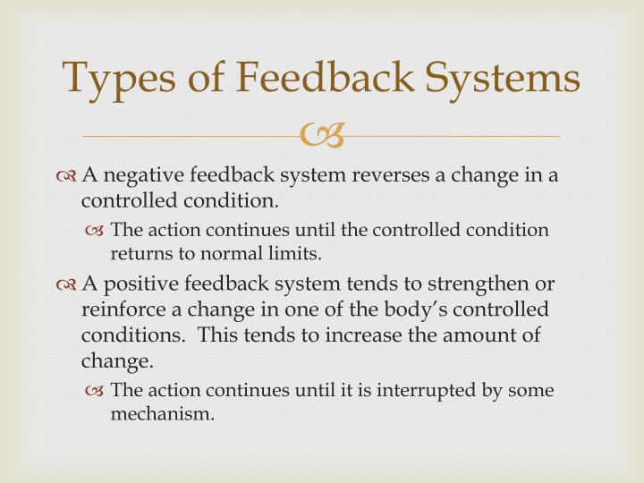 Types of Feedback Systems