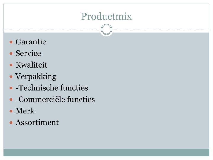 Productmix
