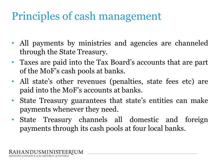 Principles of cash management