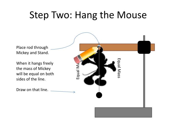Step two hang the mouse