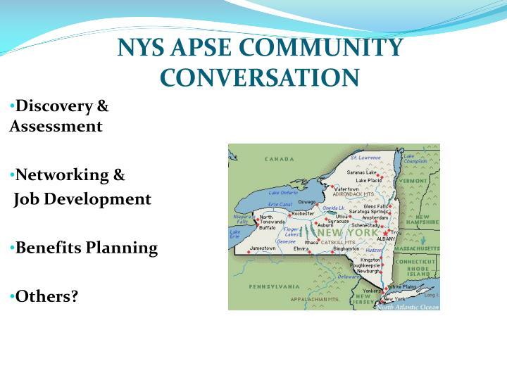 NYS APSE COMMUNITY CONVERSATION