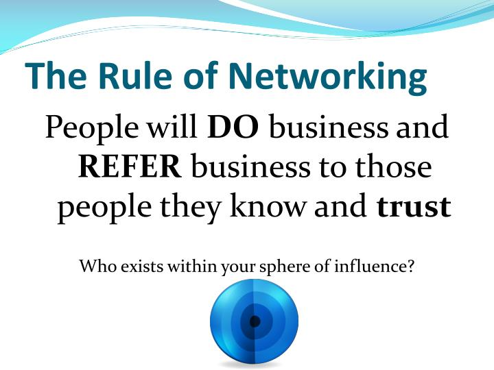 The Rule of Networking