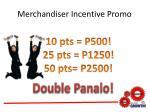 merchandiser incentive promo5