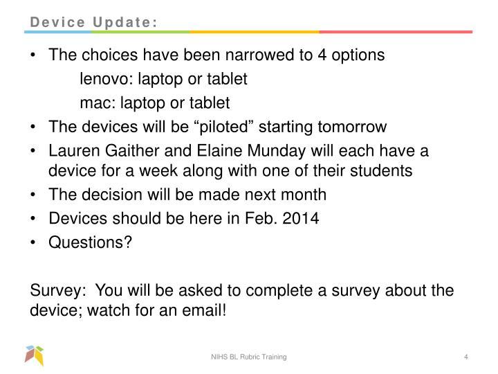 Device Update: