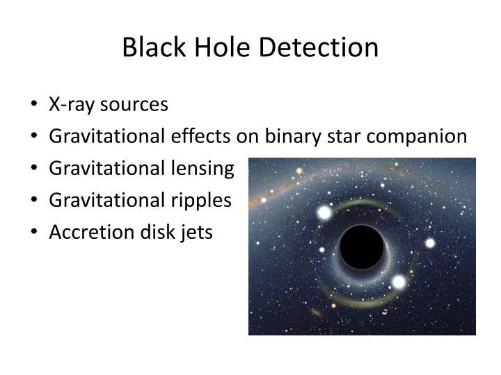 Black Hole Detection