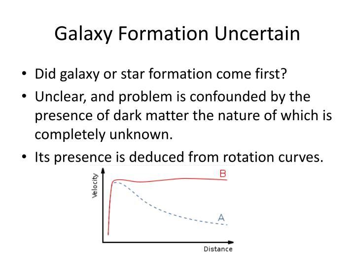 Galaxy formation uncertain