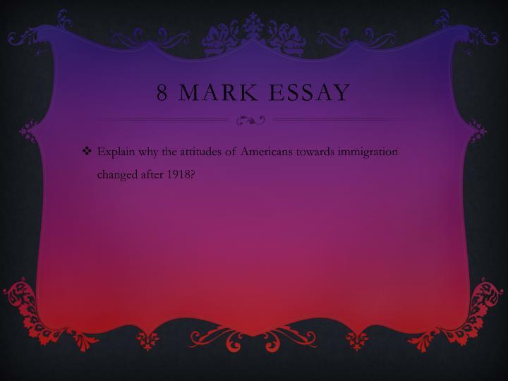 8 Mark Essay