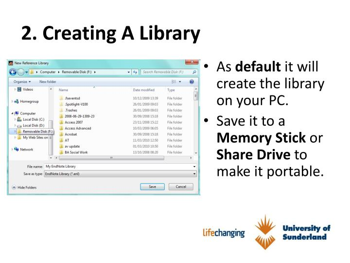 2. Creating A Library
