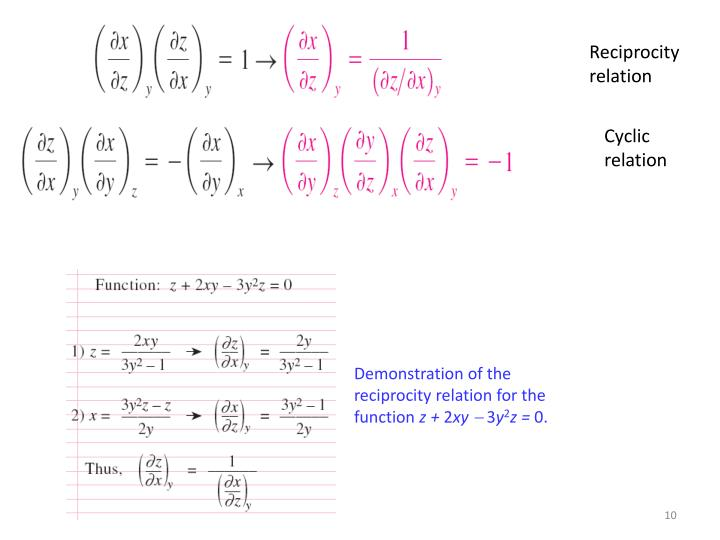 Reciprocity relation