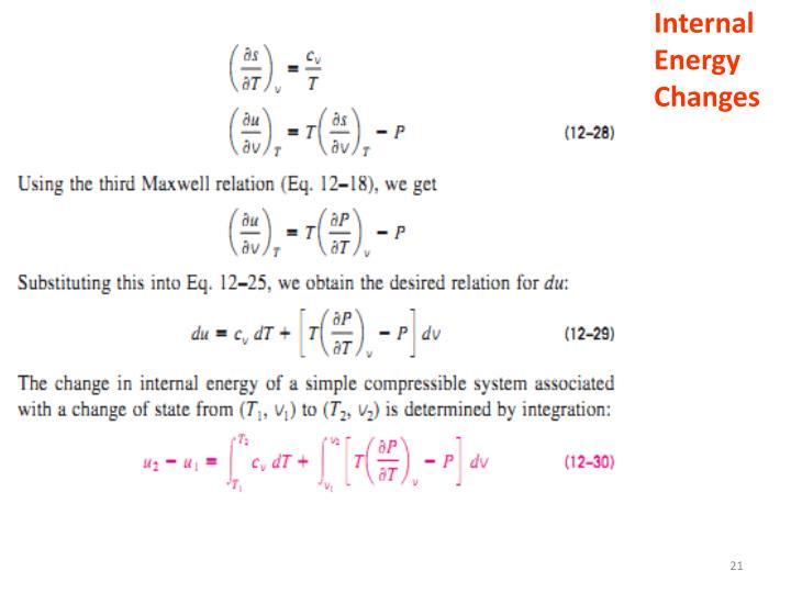 Internal Energy Changes