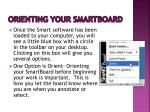 orienting your smartboard