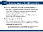 disadvantages of cloud computing1