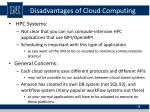 disadvantages of cloud computing4