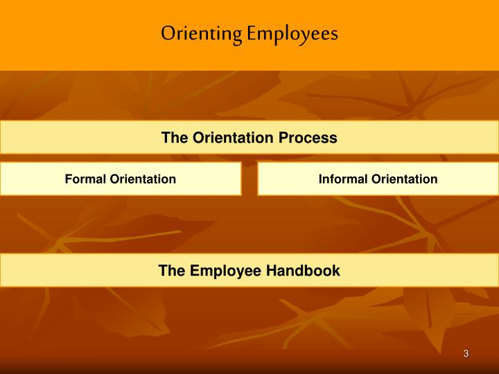Orienting employees1