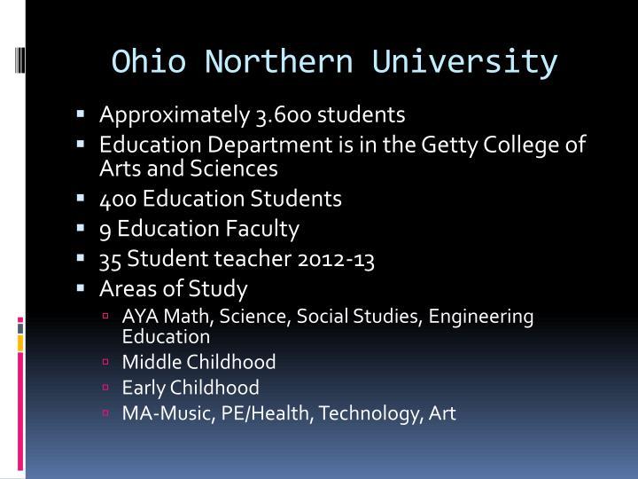 Ohio northern university
