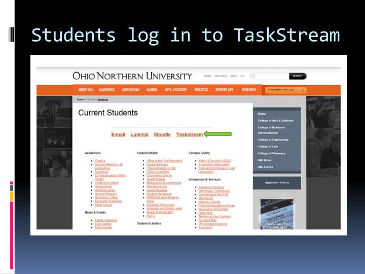 Students log in to