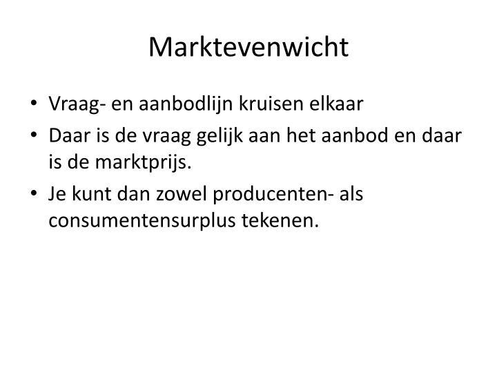 Marktevenwicht