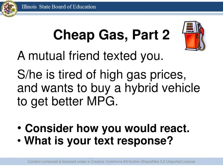 Cheap Gas, Part 2