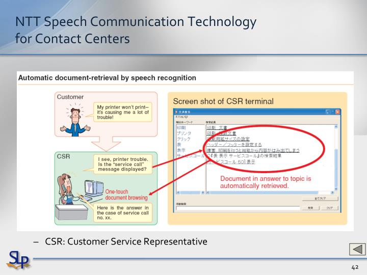 NTT Speech Communication Technology