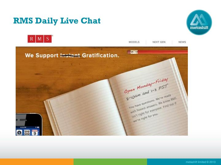 RMS Daily Live Chat