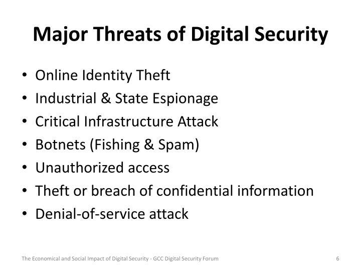 Major Threats of Digital Security