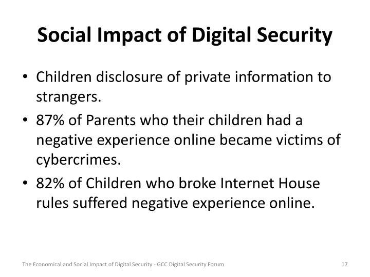 Social Impact of Digital Security