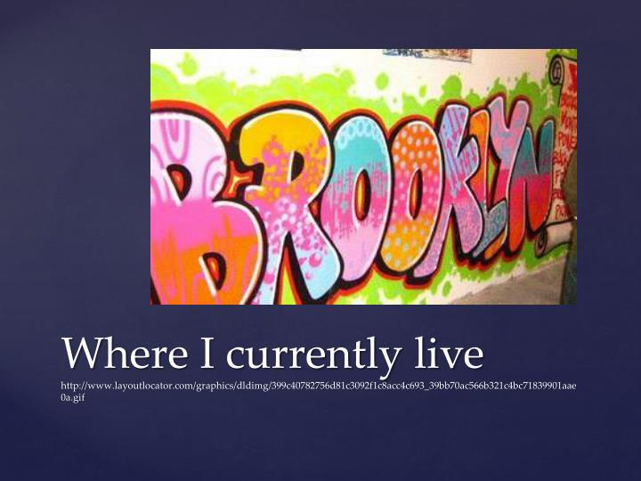 Where I currently live