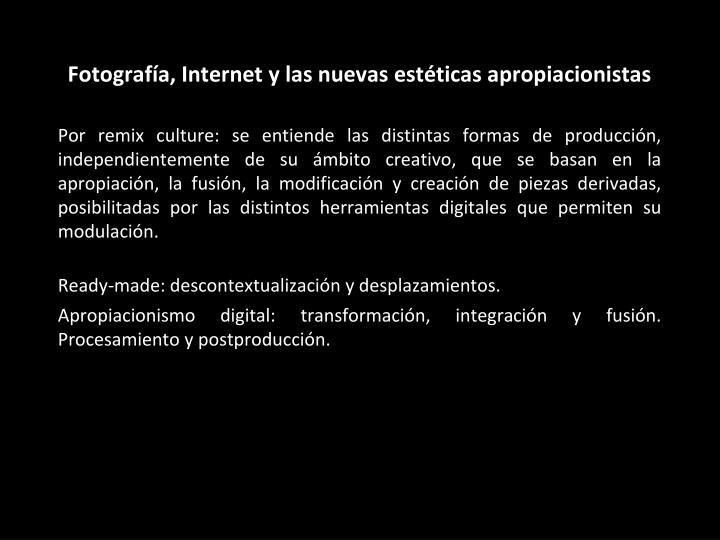 Fotografía, Internet y las nuevas estéticas apropiacionistas