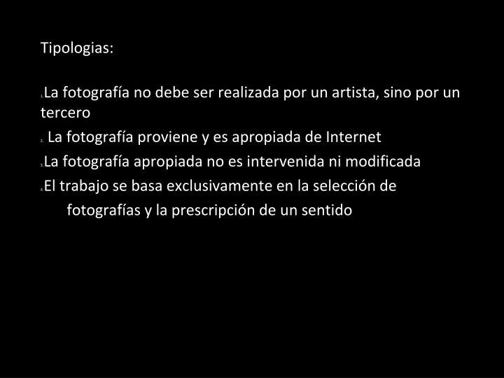 Tipologias: